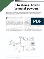 Blown to atoms how to make a metal powder