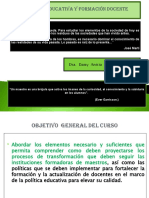 2-.POLÍTICA EDUCATIVA FORMACIÓN DEL DOCENTE.