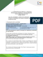 Guía de actividades y rúbrica de evaluación - Unidad 3 - Paso 5 - Proponer estrategias de manejo integrado de arvenses Evaluación final