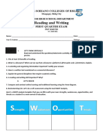 Reading and writing EXAM.docx