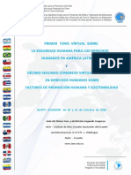 Coplad - Primeiro Fórum Virtual Sobre Segurança Humana Na América Latina. Décimo Segundo Congresso Virtual Internacional. Quito. Ecuador. Outubro 2020