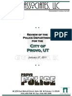 Provo Police Audit and City Response