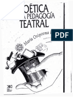 KNEBEL Maria Poetica de La Pedagogia Teatral