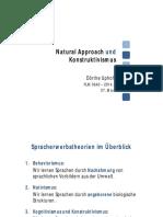 Natural Approach Und Konstruktivismus