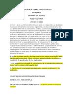 COMPETENCIA CONSULTORIO JURÍDICO ÁREA PENAL