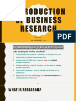 Module 1 Inroduction and Role of Business Research