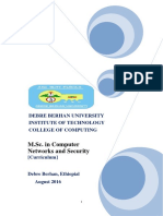 DBU_Final_Curriculum_MSc in Computer Networks and Security