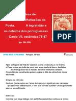 Canto VII_Ingratidão e defeitos dos Porugueses