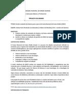 Projeto de Ensino 3° ano- COLTEC  2108