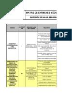 MT-004 MATRIZ DE EXAMENES OCUPACIONALES V.3