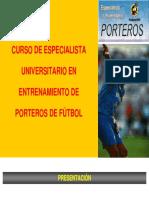 Presentacion Curso Especializacion Porteros Futbol de Jose Sambade