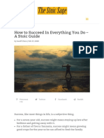 How to Succeed In Everything You Do – A Stoic Guide _ The Stoic Sage