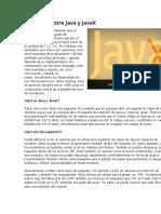 Diferencia entre Java y JavaX