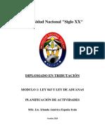 Planificacion  Modulo 1_LEY 843 Y LEY DE ADUANAS