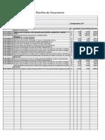 Planilha layout para orçamento macro de edificação