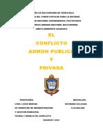 CONFLICTO EN LA ADMON PUBLICA Y PRIVADA