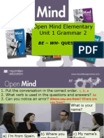 Open Mind Elementary Unit 01 Grammar 2