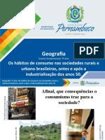 Os hábitos de consumo nas sociedades rurais e urbanos brasileira, antes e após a industrialização dos anos 50