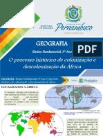 O processo histórico de colonização e descolonização da África