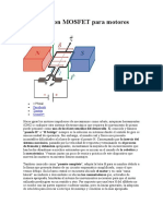 Puente H con MOSFET para motores CC