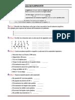 Guía teorica practica de operaciones con Números Enteros.