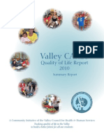 Valley CARES Quality of Life Report executive summary
