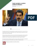 Venezuela adelantó navidad a octubre_ última medida de Maduro - Diario La Libertad - Periódico Noticioso de Colombia.