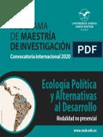 Maestria en Ecología Política folleto final