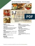 Menus de La Cuisine de Meme Moniq Du 10 Au 16 Octobre