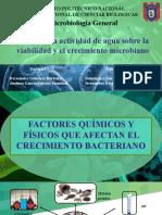 ACTIVIDAD DEL AGUA EN MICROBIOLOGÍA