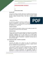 6.1 ESPECIFICACIONES TECNICAS