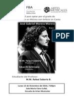 2013-03 Programa Recital Bachillerato - Gabriel Morera M., bajo