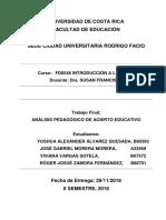 ANÁLISIS PEDAGÓGICO DE ACIERTO EDUCATIVO - Prof. Rafael Saborío