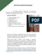 INSTRUMENTOS DE LABORATORIO DE SUELOS