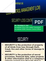 SECURITY LOSS CONTROL