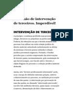 RESUMO INTERVENÇÃO DE TERCEIROS