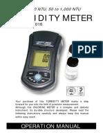Turbidity meter Lutron TU-2016