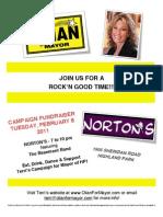 Norton's Campaign Event Flyer