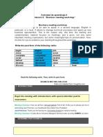 actividad de aprendizaje 4 Evidencia 2 Business meeting workshop