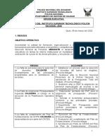 RIESGOS DEL  ISTPN 2020