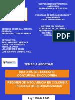 GRUPO 3 HISTORIA DEL DERECHO CONCURSAL  Y REGIMEN DE INSOLVENCIA EMPRESARIAL EN COLOMBIA