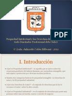 Prop Intelectual y Derechos de Autor