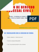 12. FORMAS ESPECIALES DE CONCLUSIÓN DEL PROCESO