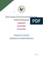 Amr Deeb-Site Selection