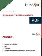 Blogging y Redes Sociales