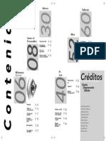 tabla de contenidos impresión pdf