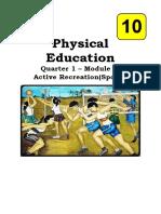 Physical Education 10 WEEK 2