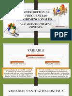 DISTRIBUCION DE FRECUENCIAS UNIDIMENCIONALES variables continuas.pptx