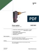 Flow Switch QVE1901 Datasheet