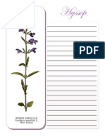 Hyssop Note Booking